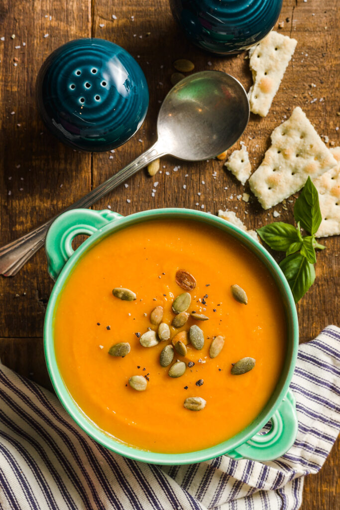Butternut Soup with roasted pepitas