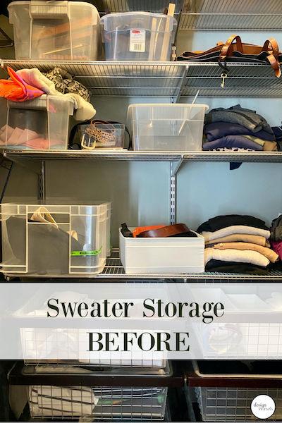 sweater storage