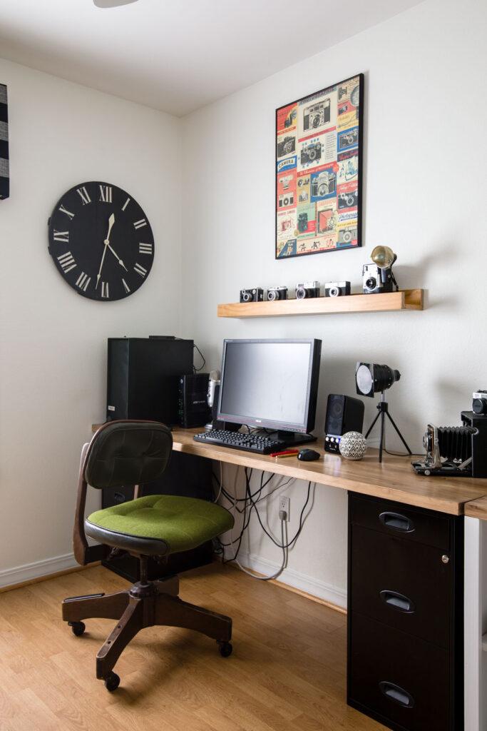 DIY Filing cabinet desk