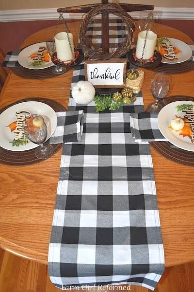 Buffalo Check Thanksgiving Table Settings