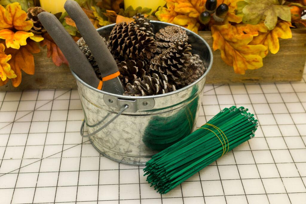 Supplies to make floral picks