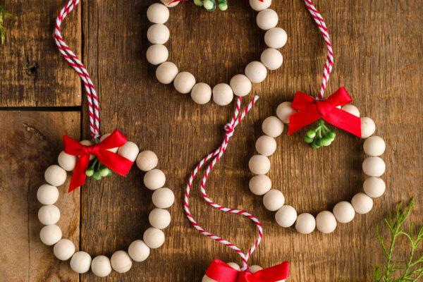 Wooden Christmas Ornament wreaths