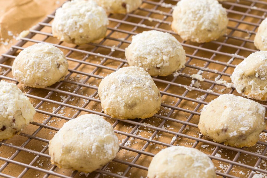 Cookies on cooling rack