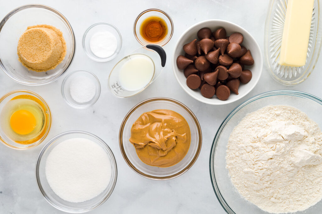 Peanut Butter Blossoms Ingredients
