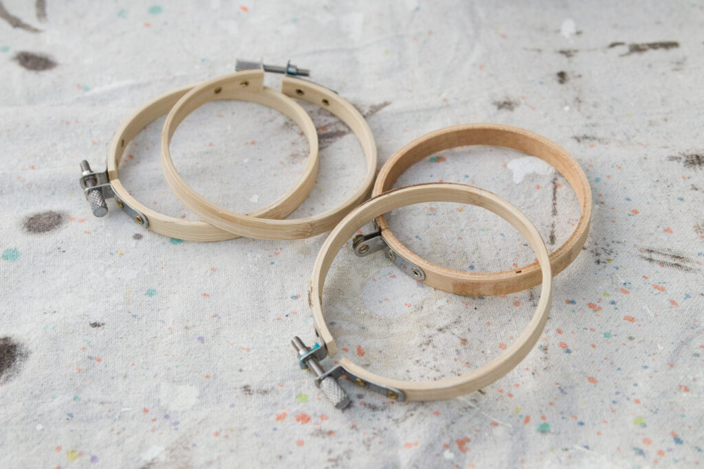 Small embroidery hoops