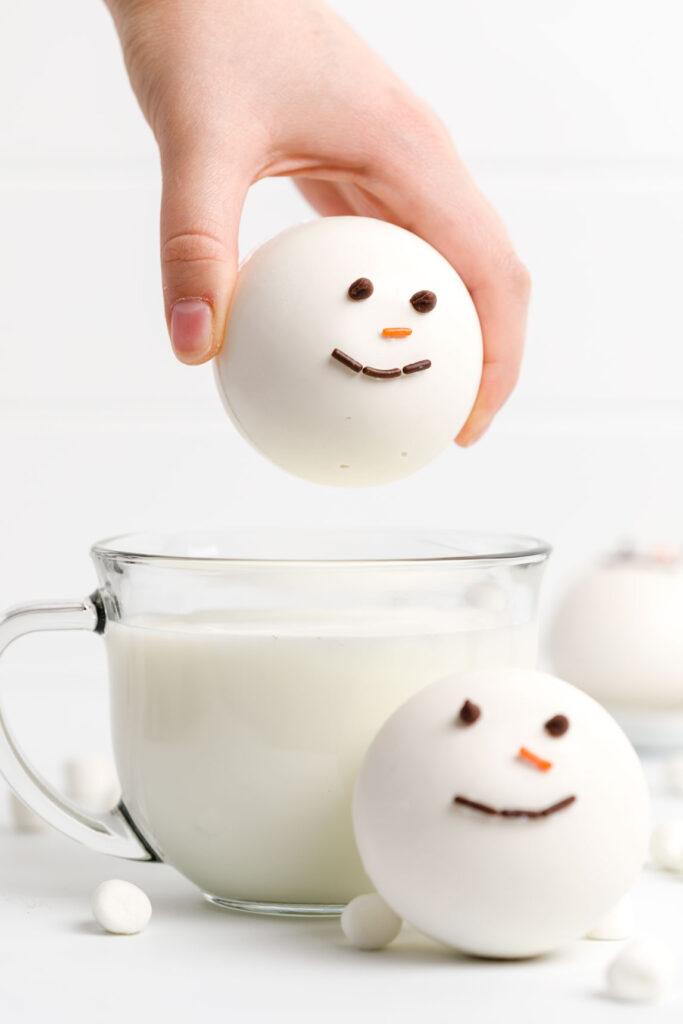 White Hot Chocolate Bombs