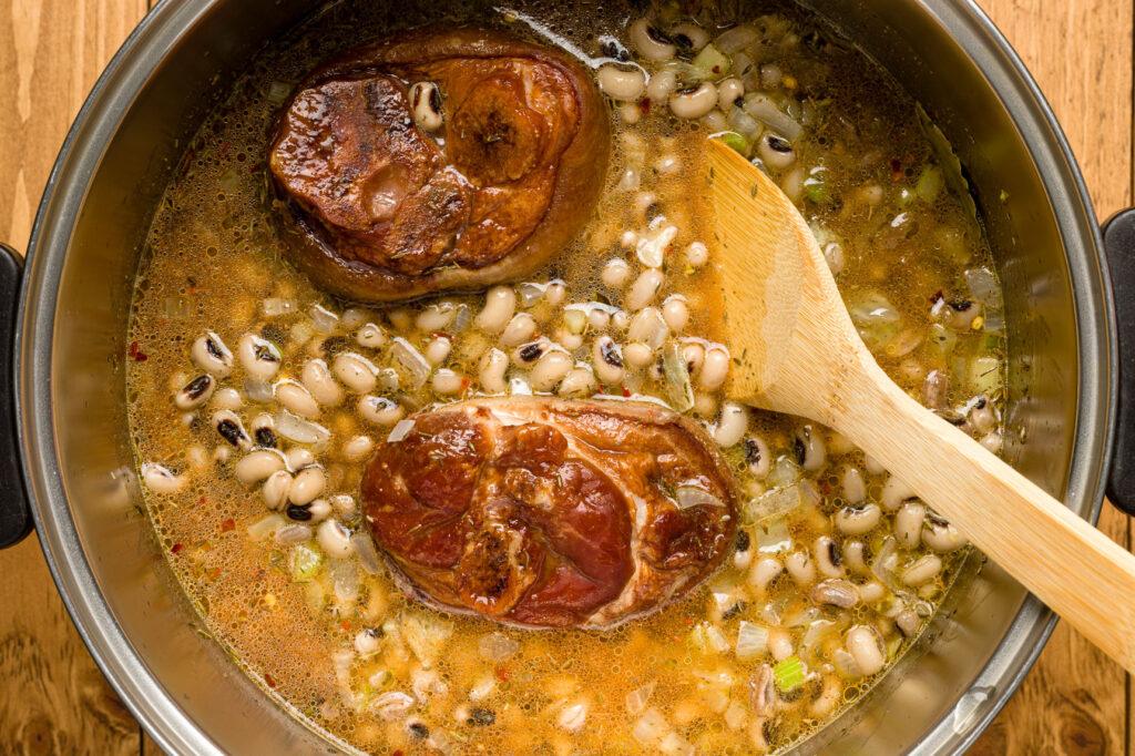 Stir black eyed pea mixture