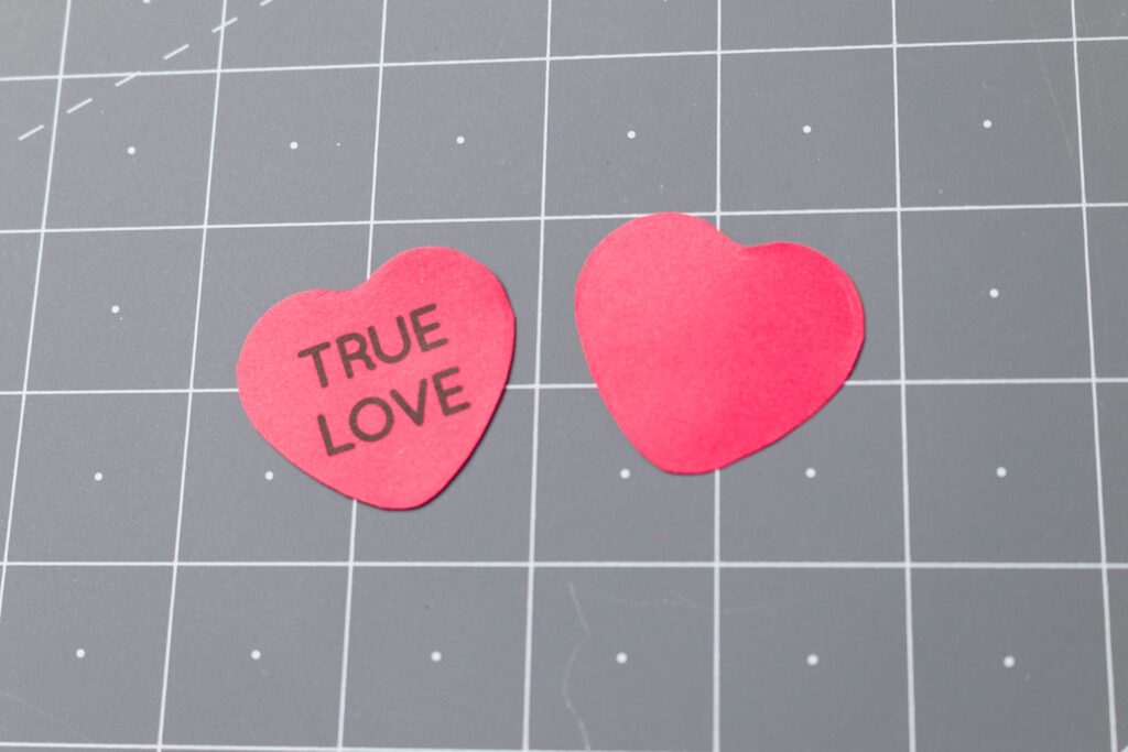 Cut out front and back heart pieces