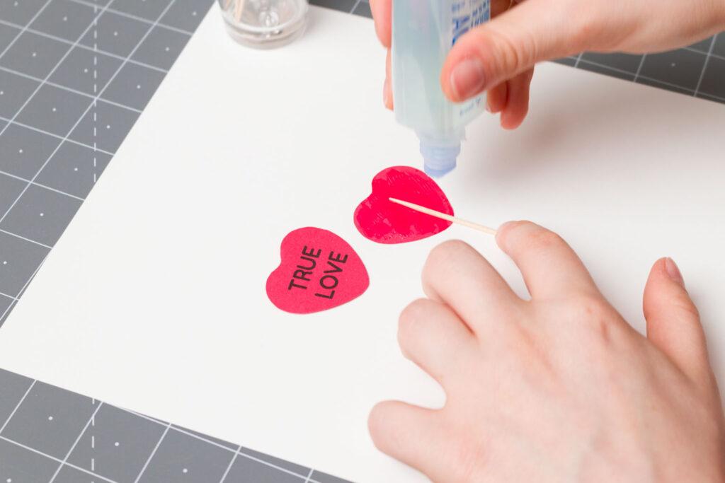 Creating my Valentine's Cupcake Picks