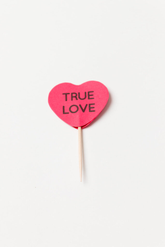 True Love is perfect for this red cupcake pick