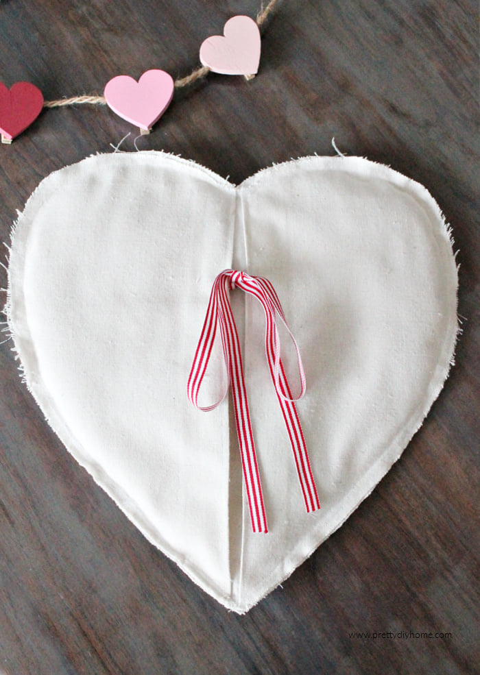 DIY Valentine heart heating pad