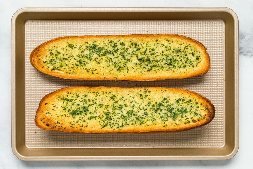 Golden brown baked bread