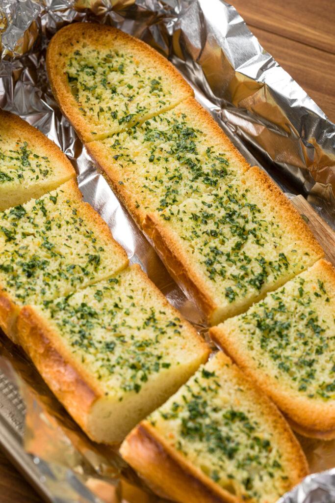 Sliced garlic herb bread