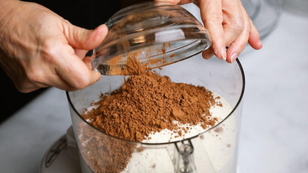 Adding Cocoa powder