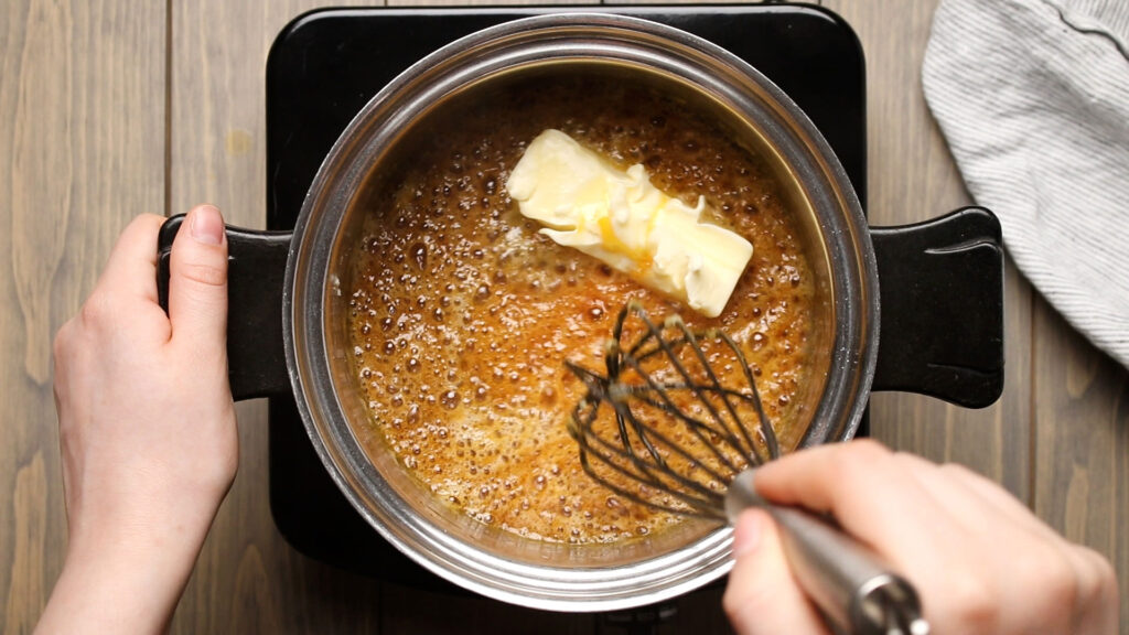 Whisking in butter