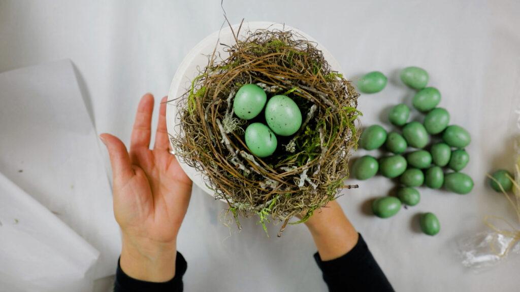 Homemade bird nest