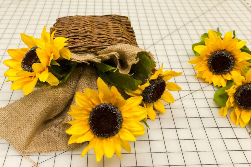 Add a few more sunflower stems