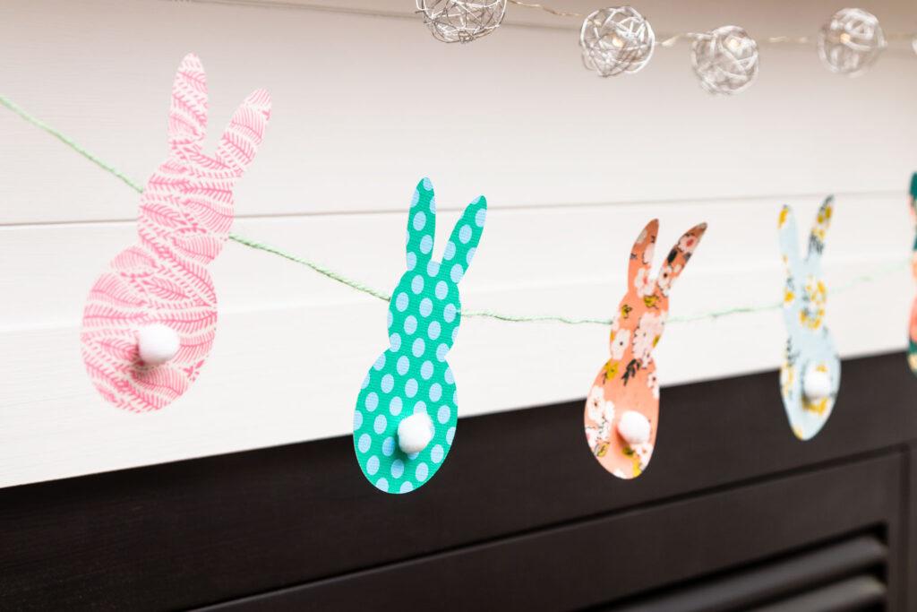 Boho Easter Bunny Banner