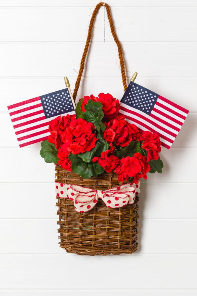 DIY Patriotic Wreath Basket