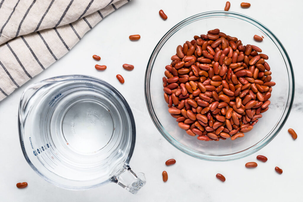 Red beans and water