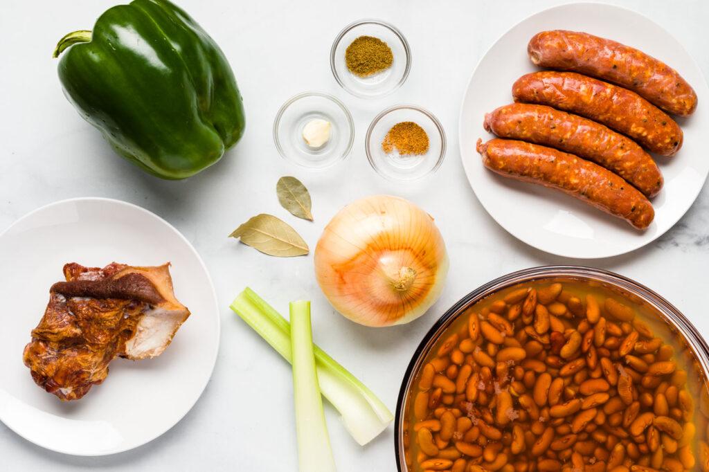 Red beans ingredients