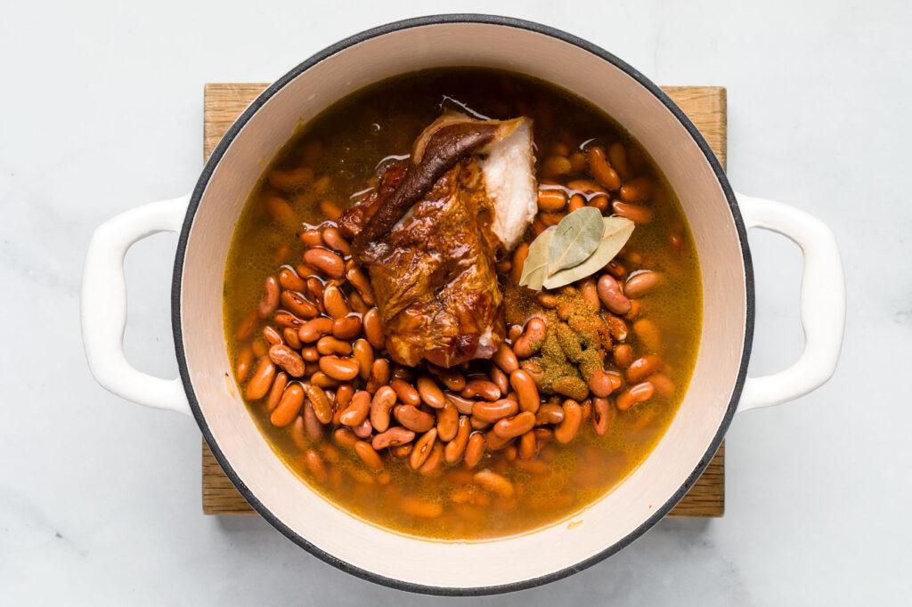 Seasoned red beans