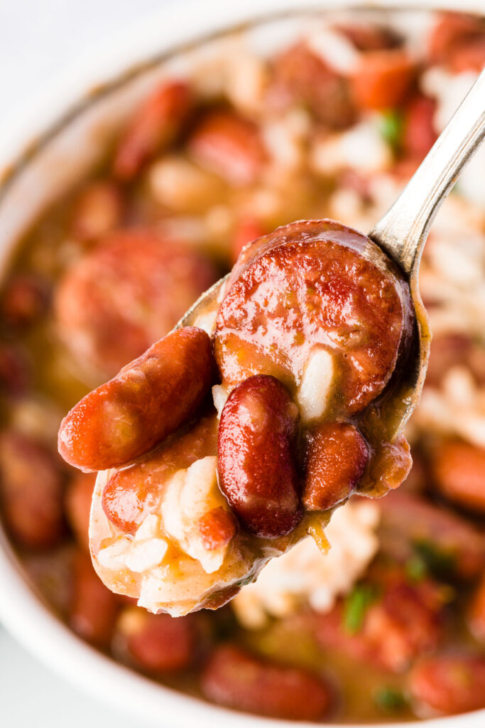 Red beans and rice with andouille sausage