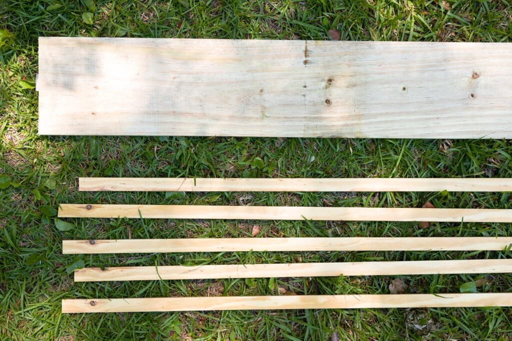 DIY Shutter lumber