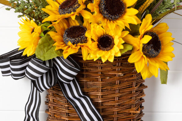 Sunflower Door Basket
