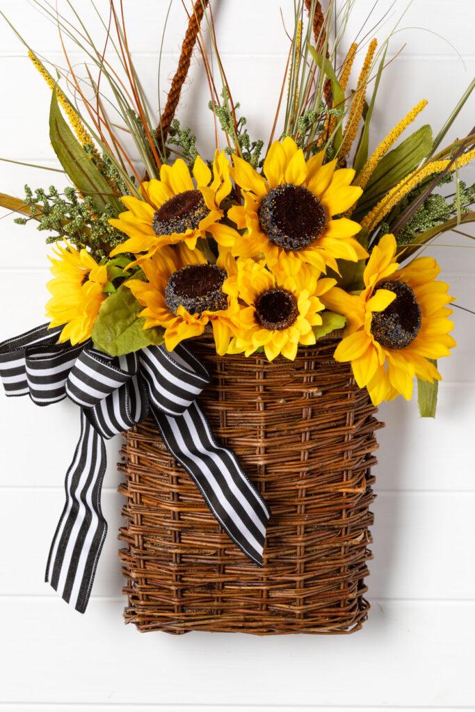 Sunflower Door Basket