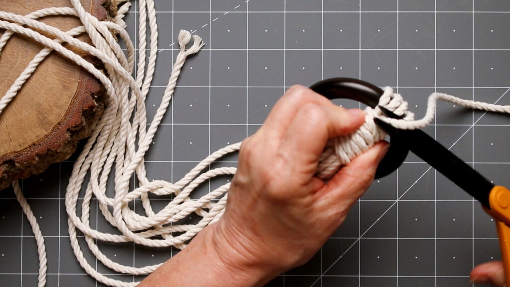 Trim the cording tail