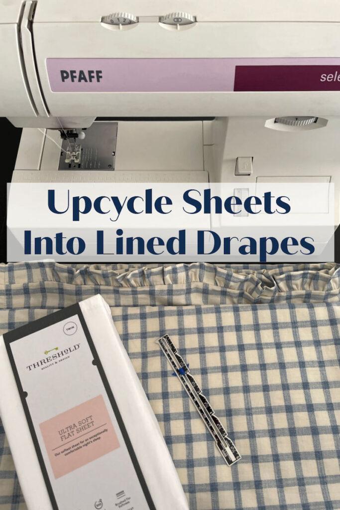 turn sheets into drapes