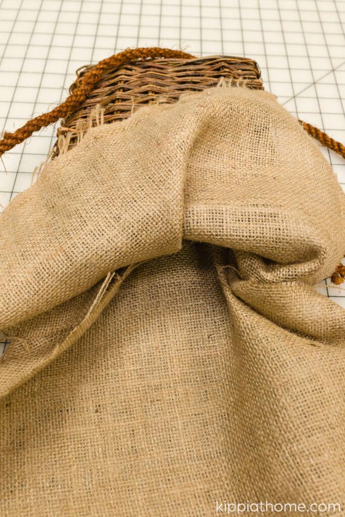 Add burlap to basket