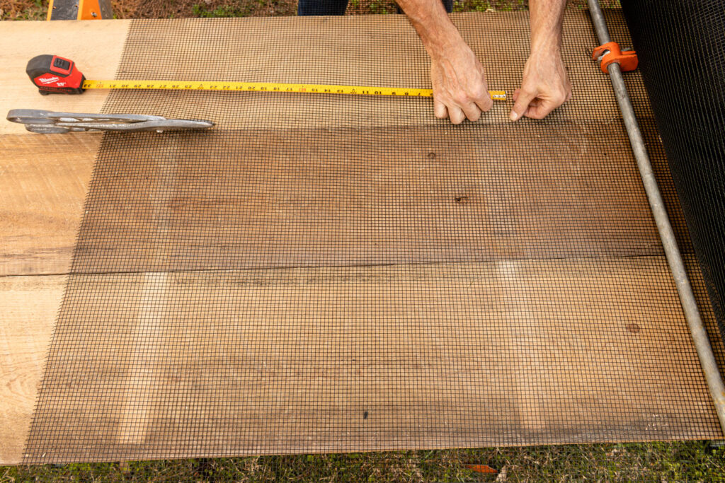 Measure and Cut hardware cloth