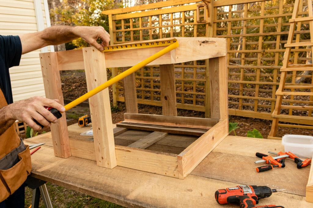 Measuring to build the door