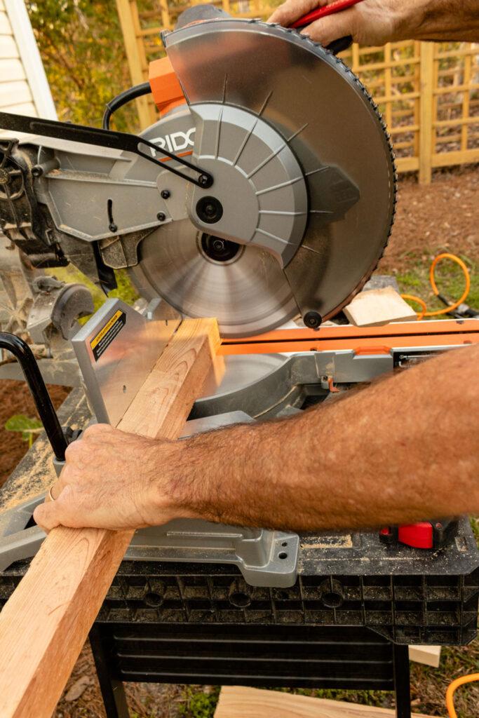 Cutting the door frame