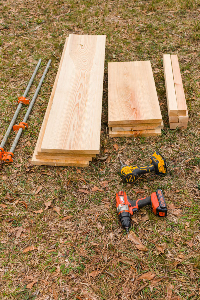 Supplies for building raised beds