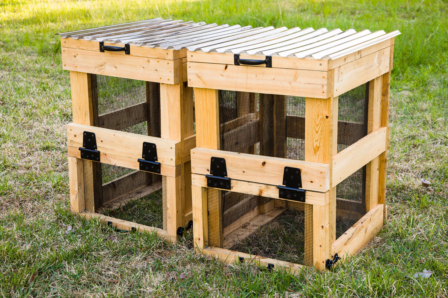 Completed DIY Compost Bins