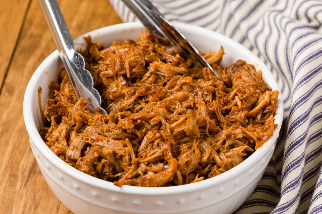 Pulled pork with barbeque sauce