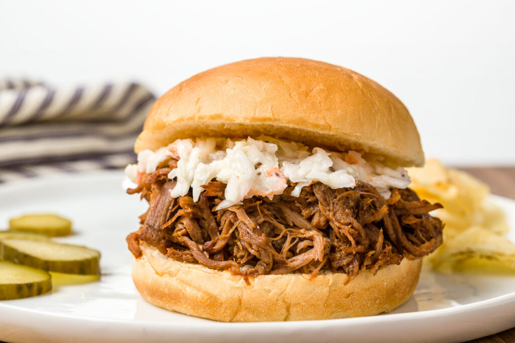 Pulled Pork Barbeque with coleslaw