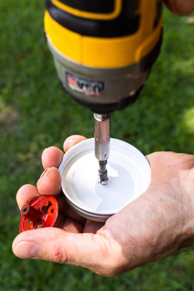 Adding the screw to attach the knob