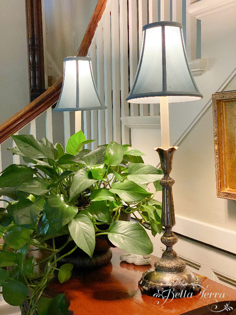 Thrift store lamp upcycle