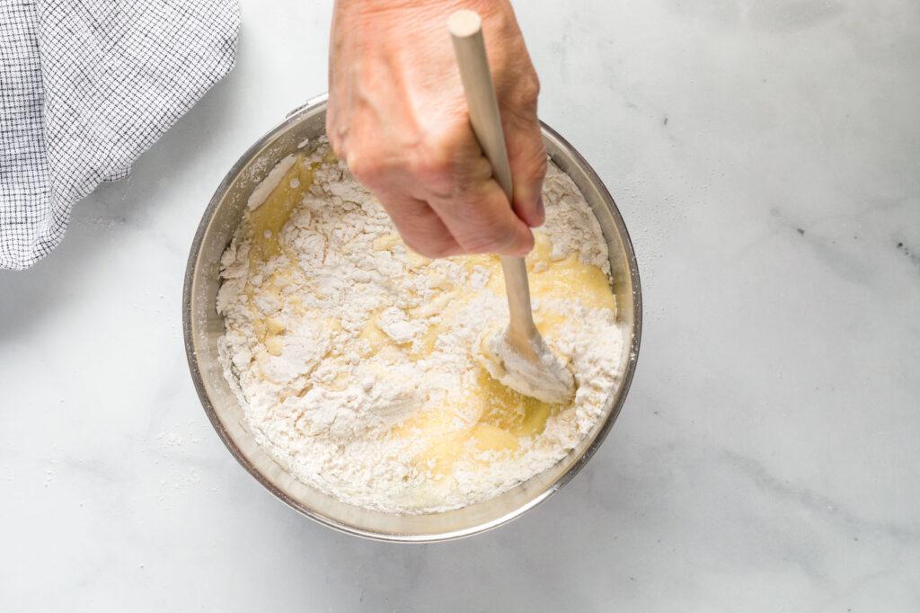 Mix muffin batter