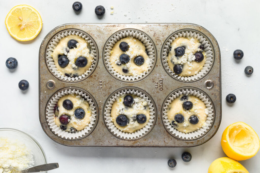 Fill muffin tin with batter
