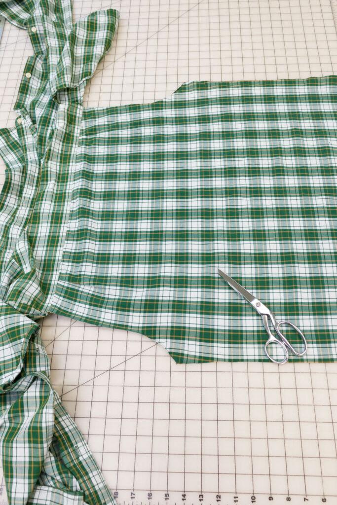 Goodwill Shirt Side Seams Cut Open