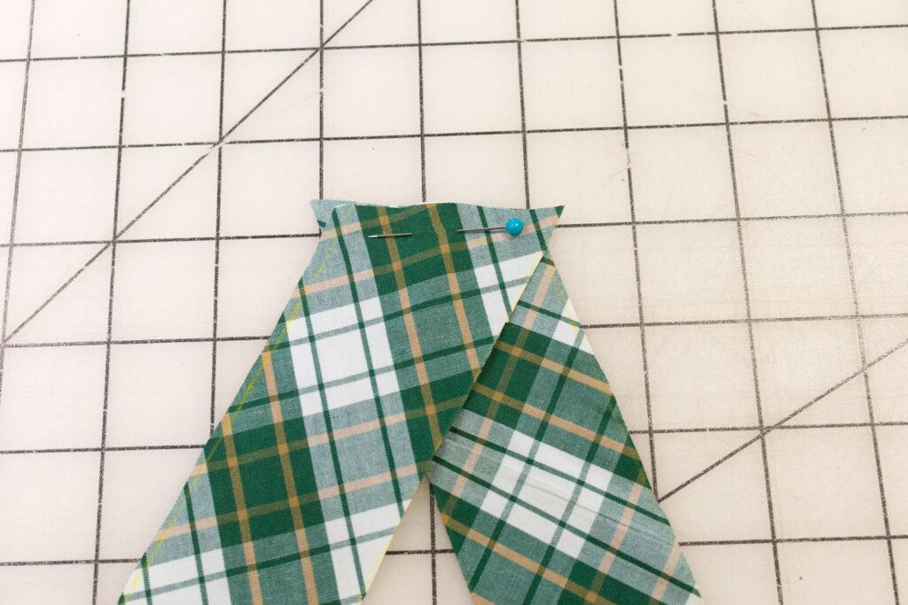Sew bias strips together