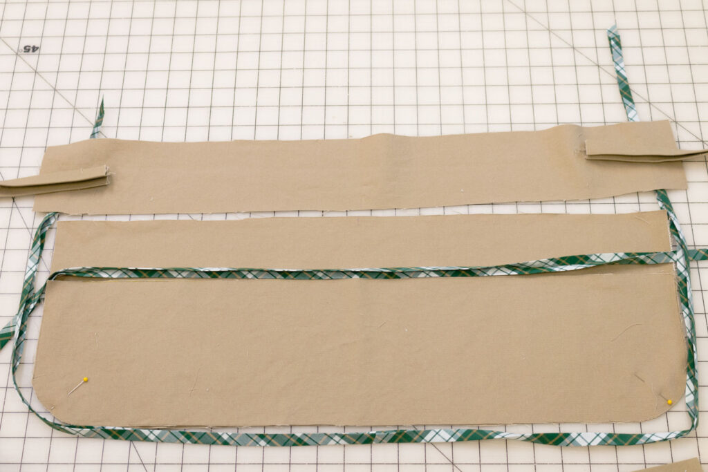Checking the length of the bias tape