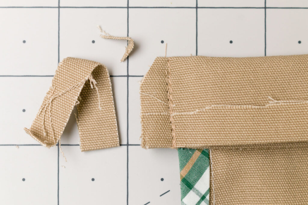 Fold the waistband over and stitch