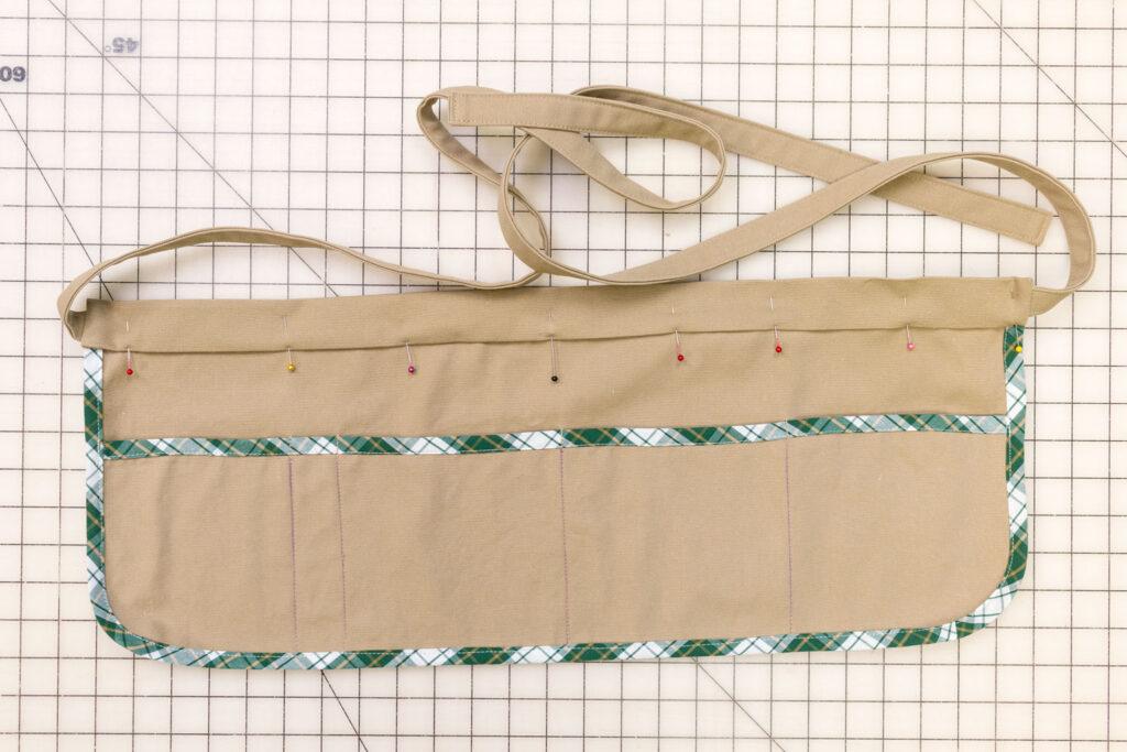 Stitch down the waistband