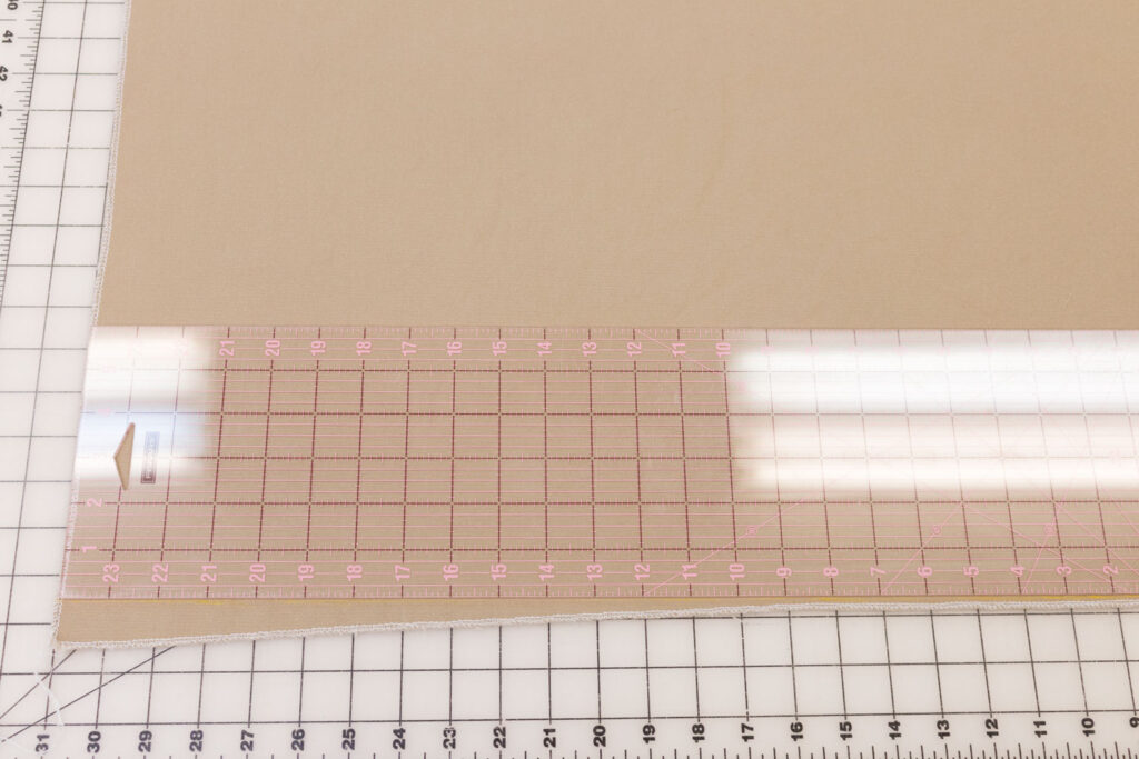 Cut main fabric pieces